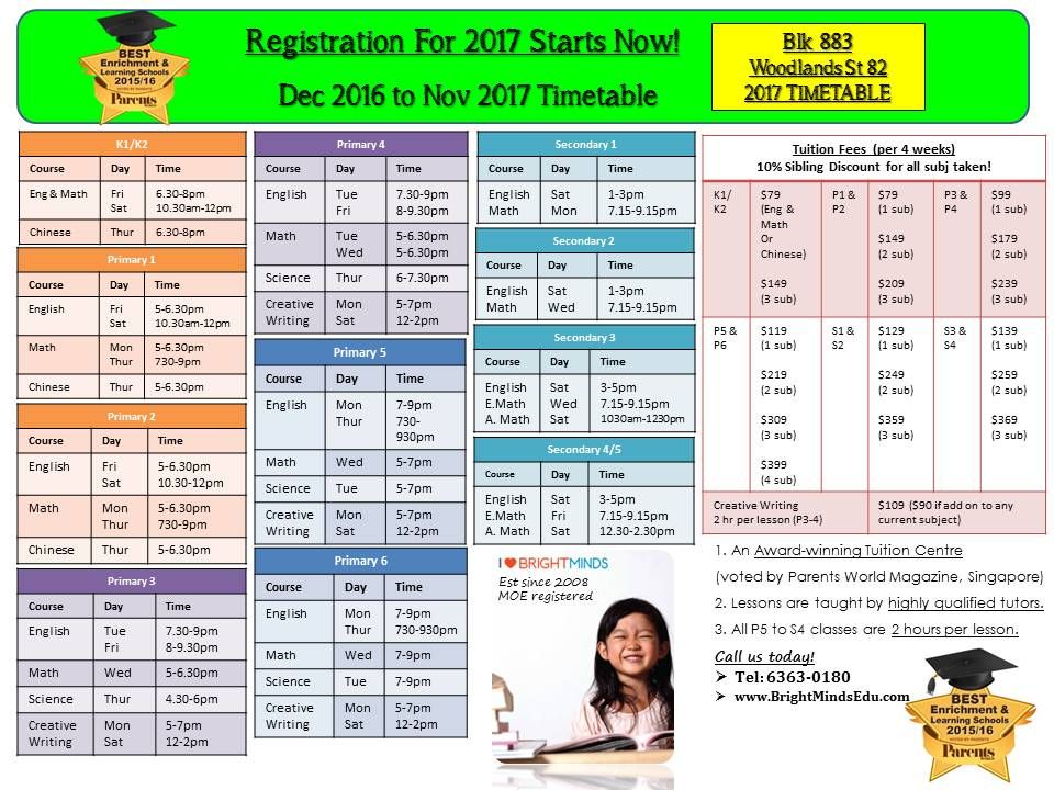 Blk 883 Woodlands North Plaza St 82 2017 Timetable