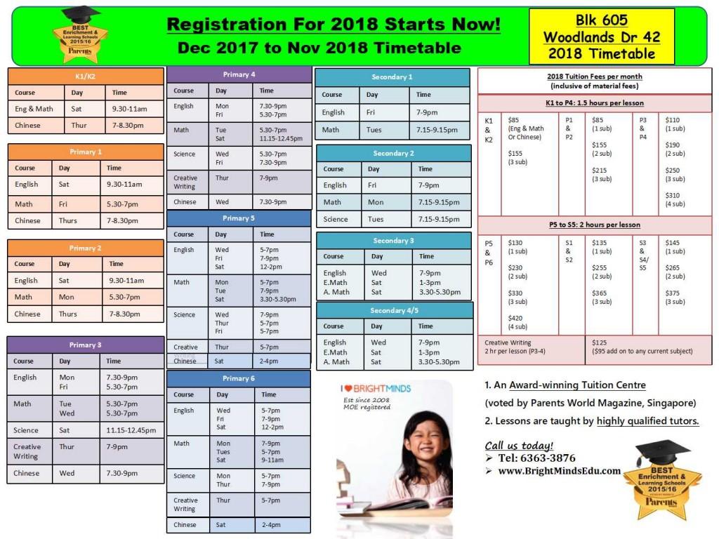 Blk 605 Woodlands Dr 42 S730605 Timetable