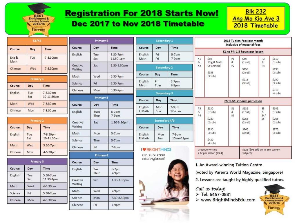 Blk 232 Ang Mo Kio Ave 3 #01-1204 S560232 Timetable